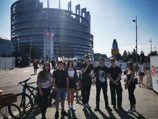 Wizyta studyjna młodzieży wStrasburgu